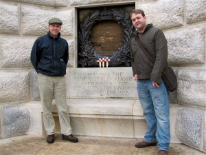 Greg Goodell and Brian Waters, Tyne Cot. 8 March 2013