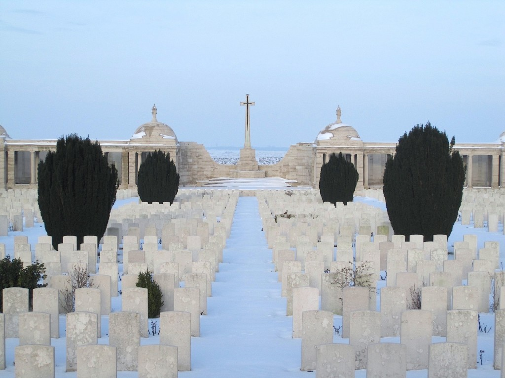 Dud Corner and the Loos Memorial to the Missing. January 2013