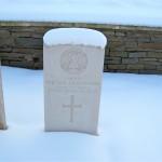 Fergus Bowes-Lyon. Quarry Cemetery. 26 January 2013