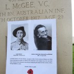 Louis McGee VC. Tyne Cot Cemetery
