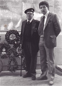 Menin Gate with Bill Hay 1979