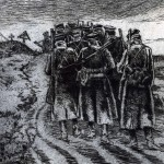 The Vitasse Road 1917. A drawing by a German Veteran