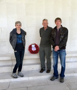 The Stocks family at the Arras Memorial