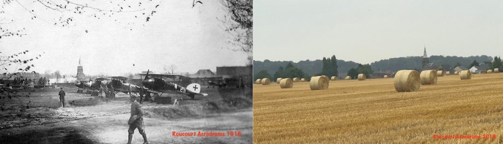 Roucourt Aerodrome then and now