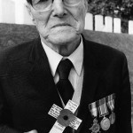 Alf Razzell. 8th Royal Fusiliers. Ovillers. Somme. (Photo Keith Colman) 1983