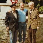 Jack Shults with Bill hay & Charlie Taylor. Quarry Cemetery 1982