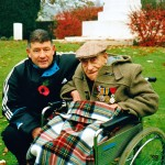 Stan Clayton age 105. Ramparts. Ypres. Genesta Tour 1999