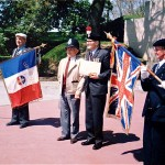 Verdun. Alf Razzell with the veteran of Fort Vaux and Guard of honour