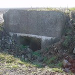Vimy Ridge. Concrete dugout entrance