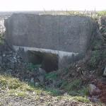 Vimy Ridge. Concrete dugout entrance